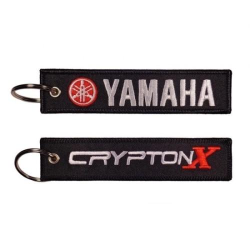 Υφασμάτινο Μπρελόκ με Κέντημα Yamaha Crypton-X