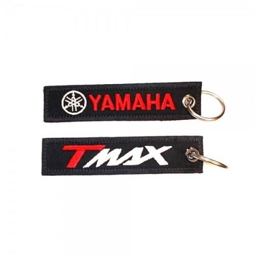 Υφασματινο μπρελοκ YAMAHA - T MAX με κεντημα FLAT