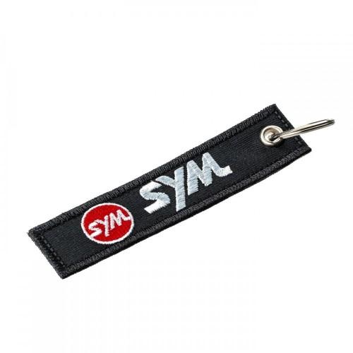 Υφασματινο μπρελοκ SYM με κεντημα FLAT