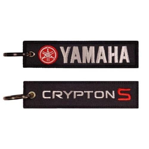 Υφασματινο μπρελοκ YAMAHA CRYPTON S με κεντημα FLAT