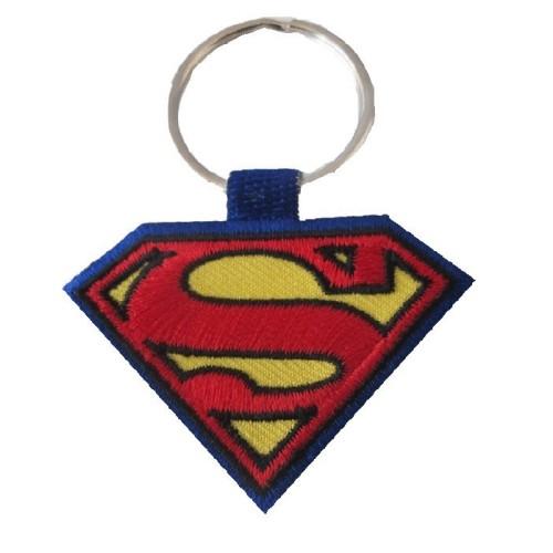 Υφασματινο μπρελοκ SUPERMAN με κεντημα FLAT