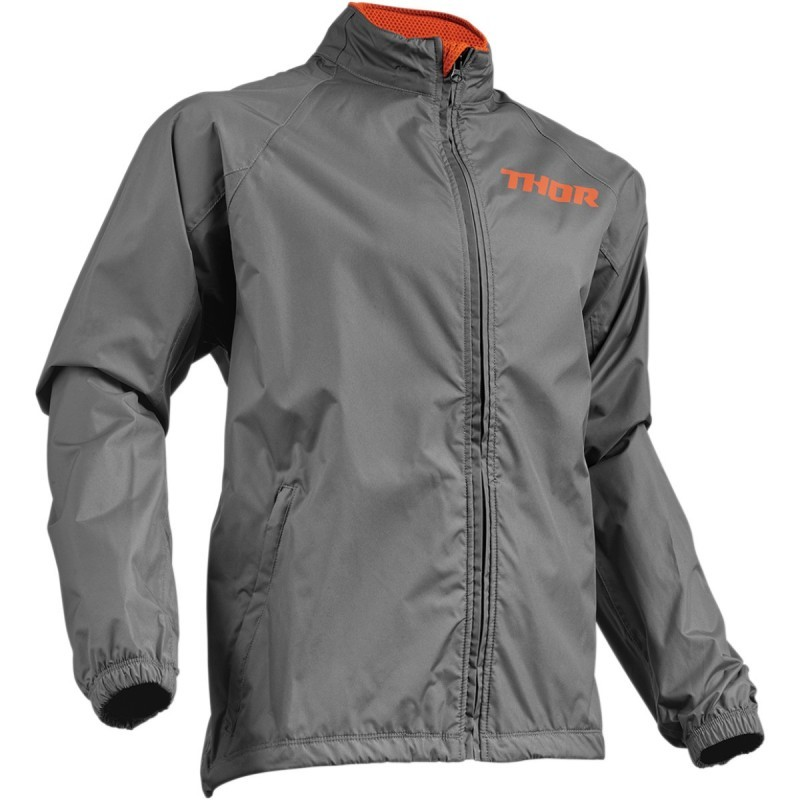 Μπουφάν Μηχανής Thor Pack Jacket Charcoal Orange