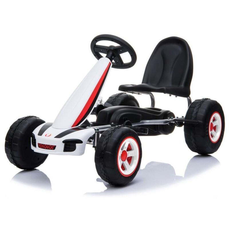 Παιδικό Αυτοκινητάκι με πετάλια Moni Fever B005 White