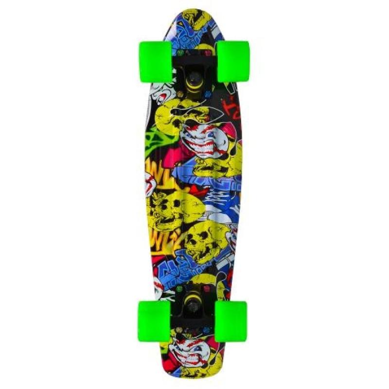 """Παιδικό Πατίνι Byox Skateboard Graffiti 22"""" με led ροδες"""