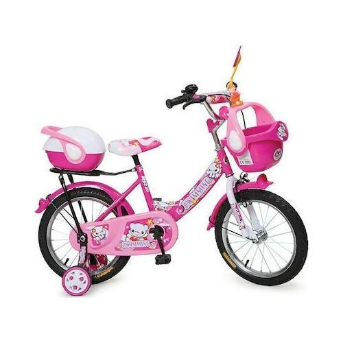 """Παιδικό Ποδήλατο MONI 1682 16"""" PINK"""