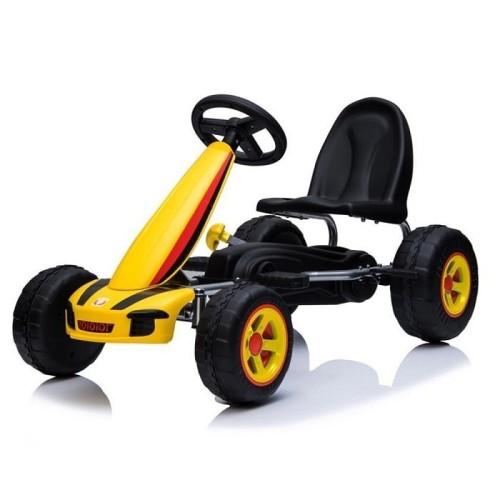 Παιδικό Αυτοκινητάκι με πετάλια Moni Fever B005 YELLOW